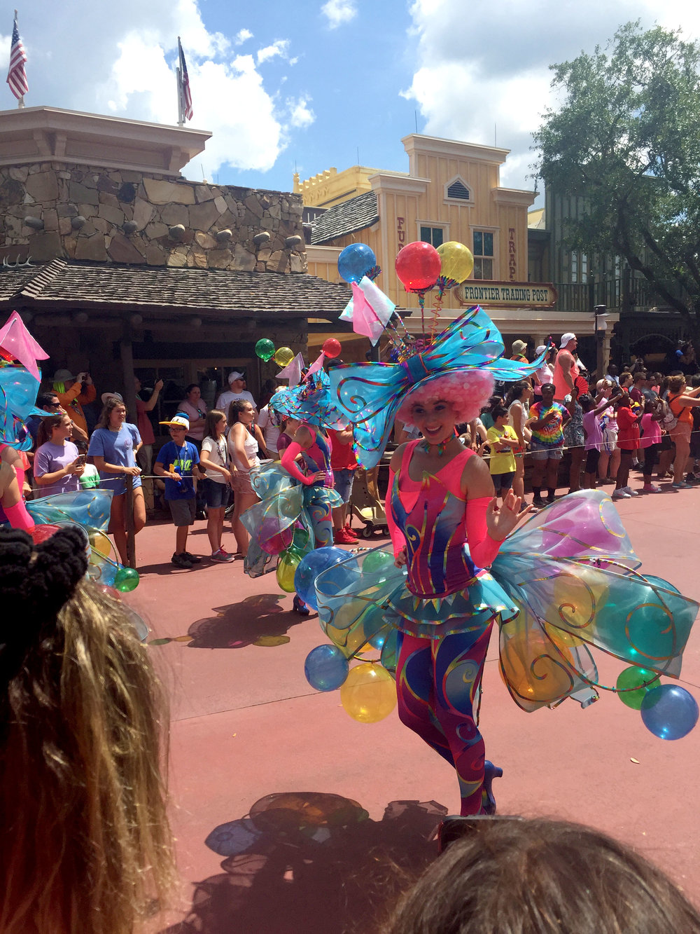 Another fabulously colorful outfit! Seriously, Disney's costume department has outdone themselves with this parade.