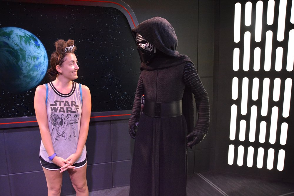 This was taken right after I gave Kylo Ren bunny ears for a photo... I don't think he was too pleased with me.