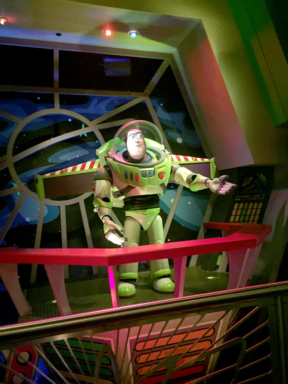I love that Buzz Lightyear's Space Ranger Spin still has its old-school Pixar quality. I hope they keep it even with all the new Toy Story rides coming in 2018.