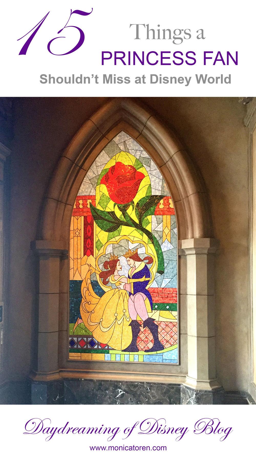 Daydreaming of Disney Blog - 15 Things a Princess Fan Shouldn't Miss at Disney World - http://www.monicatoren.com