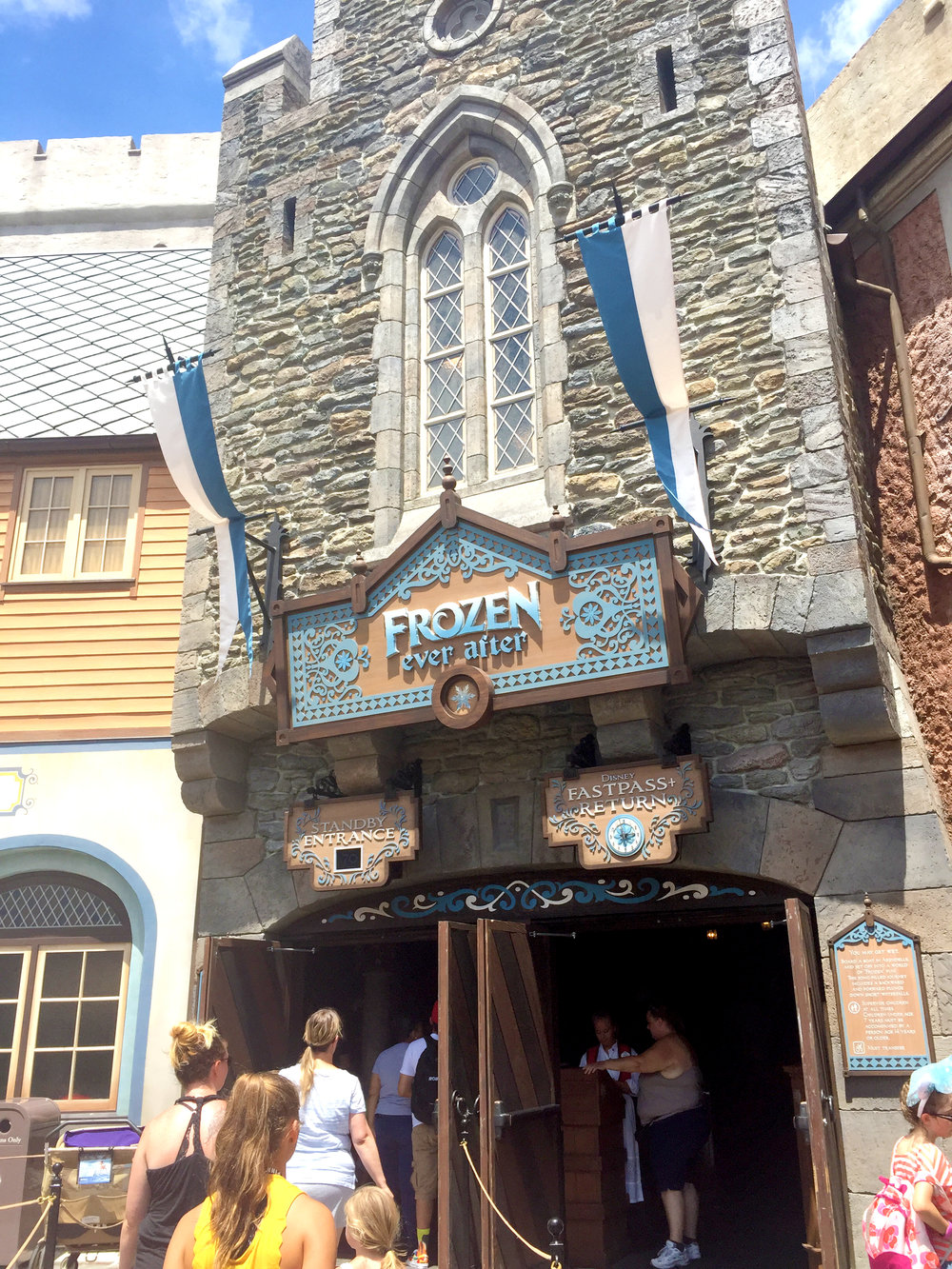 With the giant success of Frozen, Disney was quick to add a Frozen themed ride, but since the movie still remains very popular, the ride's line is typically very long!