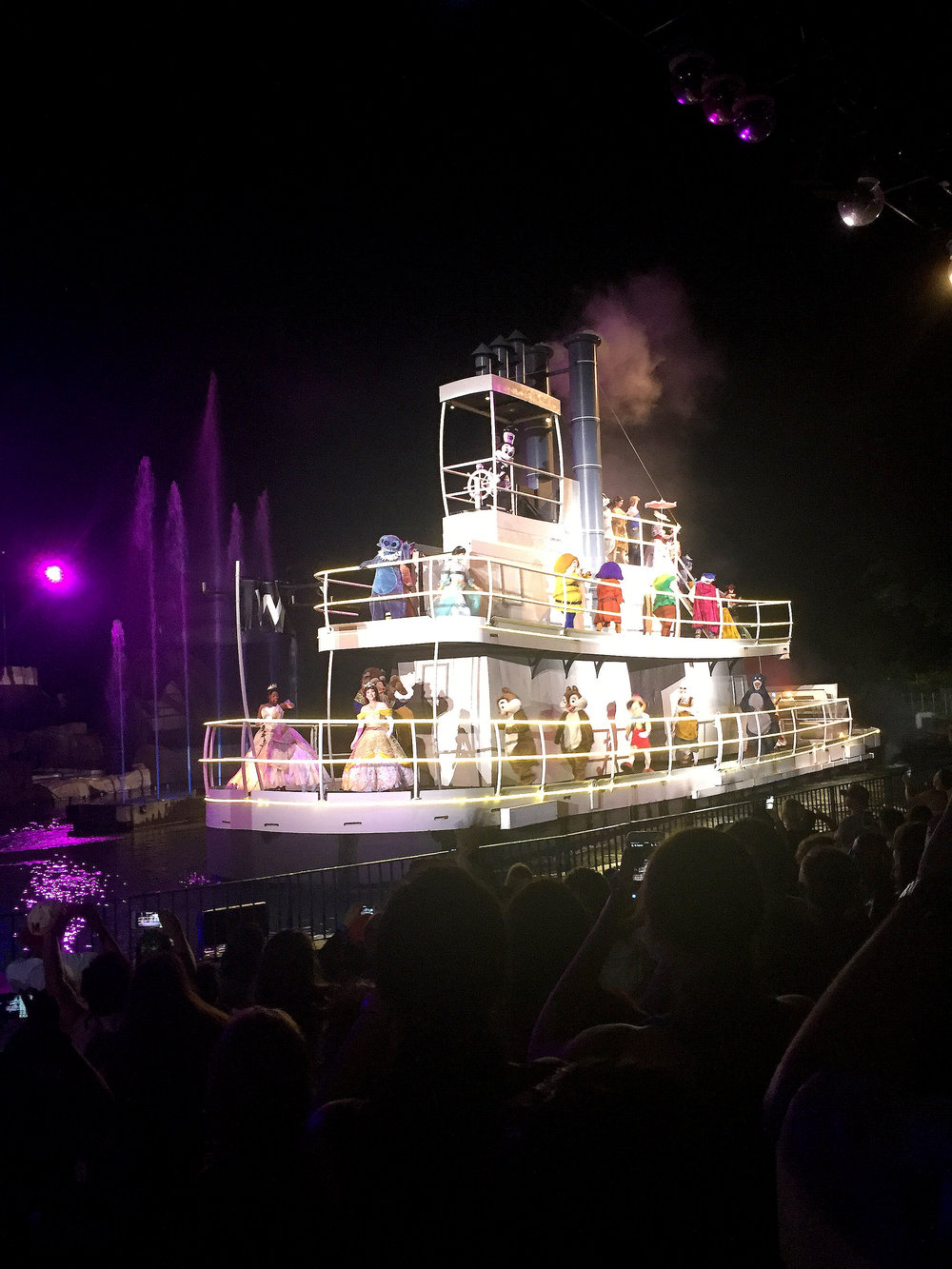 As much as I love Fantasmic and Beauty and the Beast, I don't think a Fastpass is worth it for these. You can see from this photo of the Fantasmic river boat  that we were super close to the water, even without using a Fastpass.