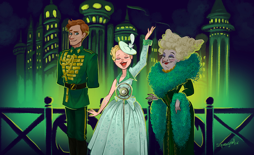 Look at how gorgeously drawn these costumes are! I feel like the animators would have fun capturing all the different styles and fabrics.
