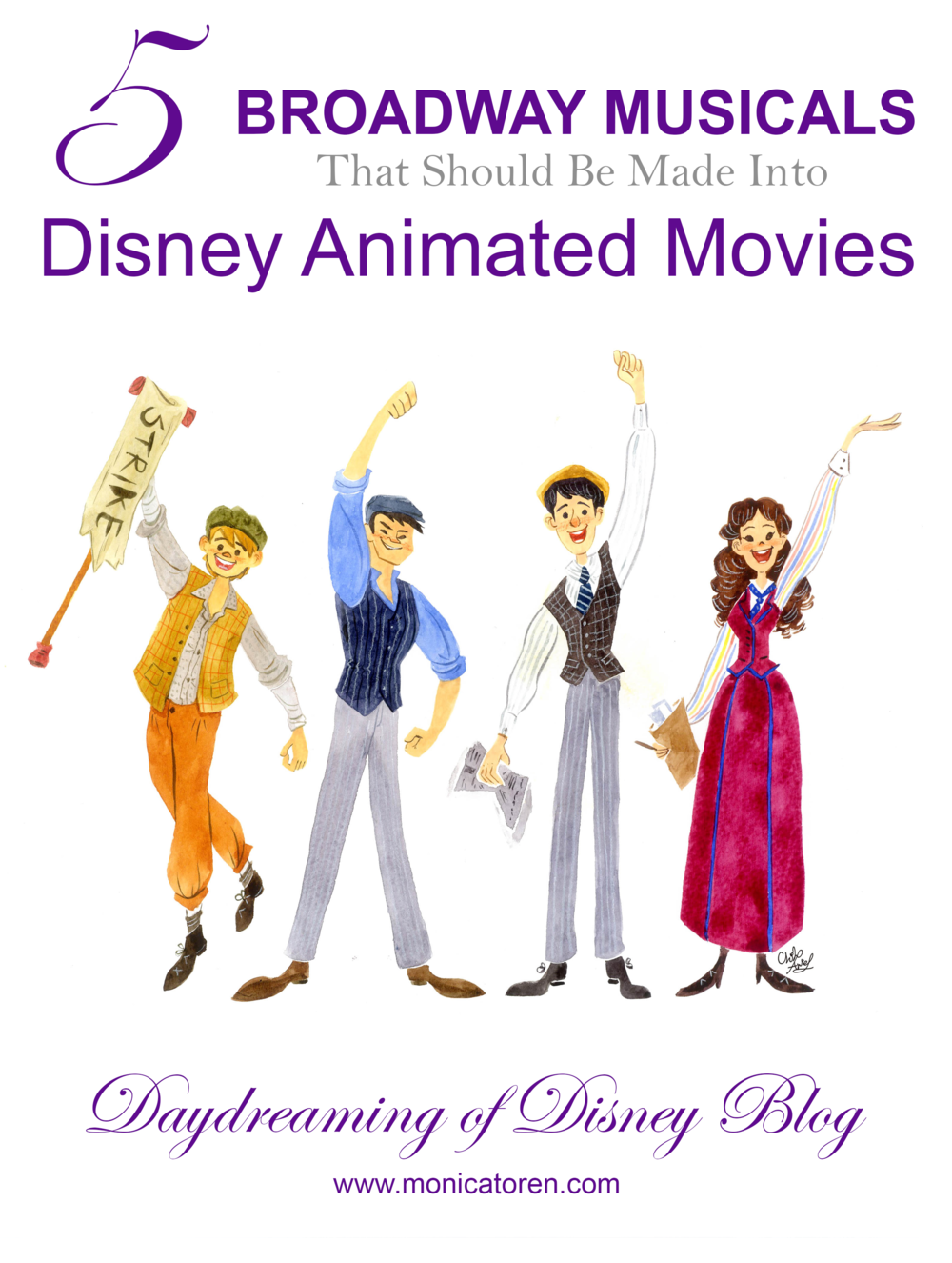 Daydreaming of Disney Blog - 5 Broadway Musicals That Should Be Made Into Disney Animated Movies - http://www.monicatoren.com #disney #broadway #frozen #frozenbroadway