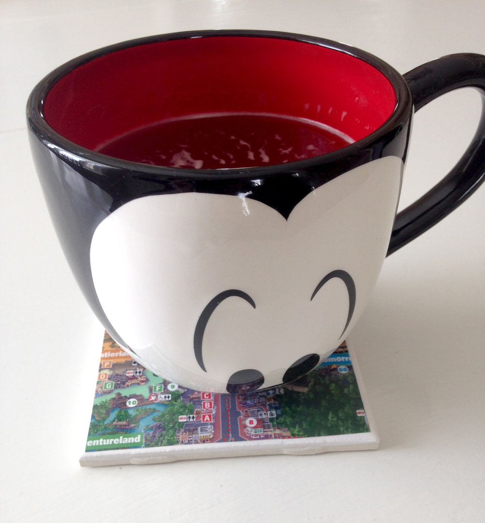 I bought this cute Mickey Mouse mug in the parks, but you can find it on Amazon  here .