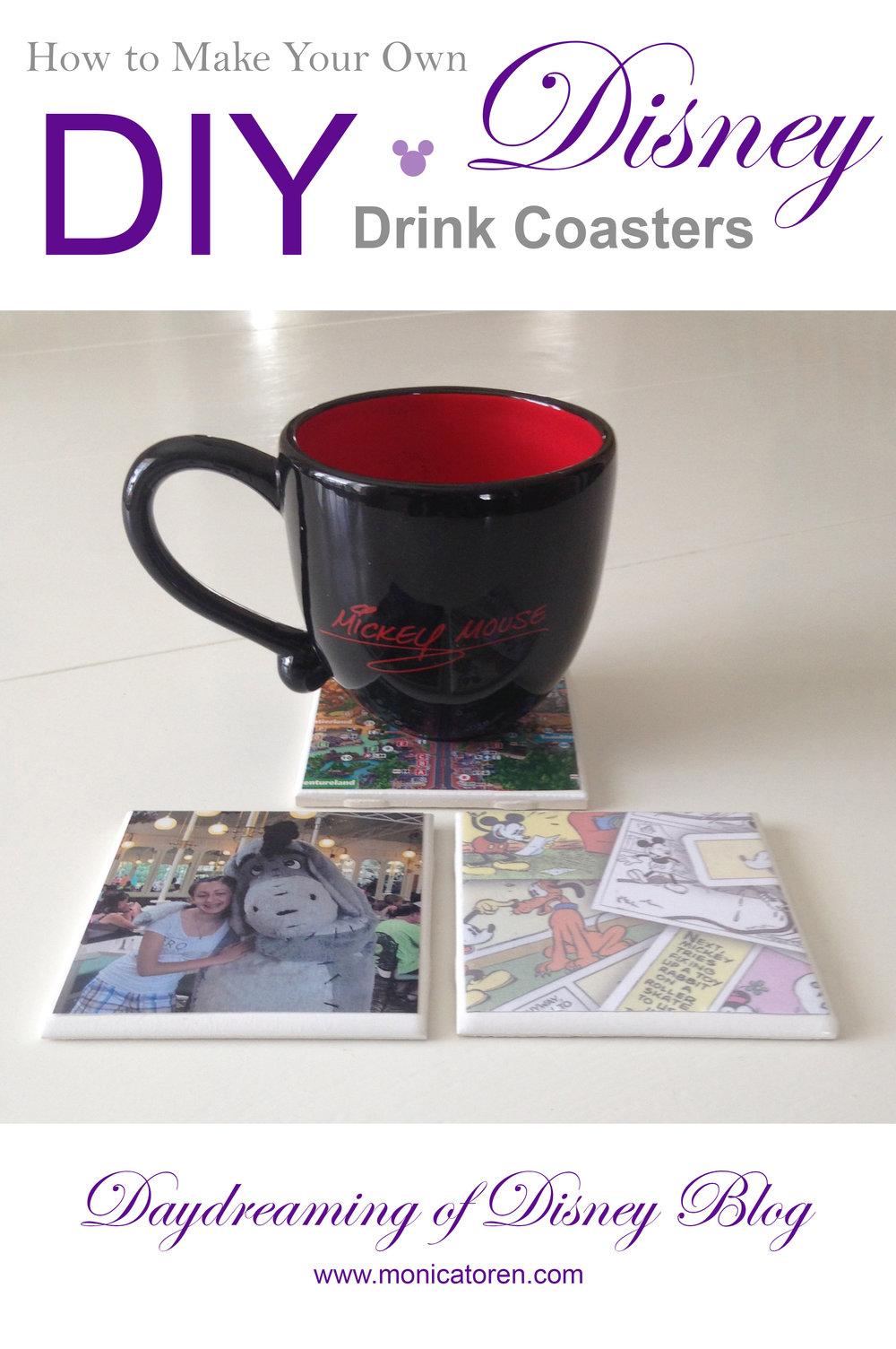 Daydreaming of Disney Blog - How to Make Your Own DIY Disney Drink Coasters - http://www.monicatoren.com #diy #disney #tutorial #disneycraft