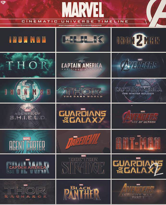 Here's a list of all the Marvel movies, plus some of the TV shows for you to reference during your binge session!