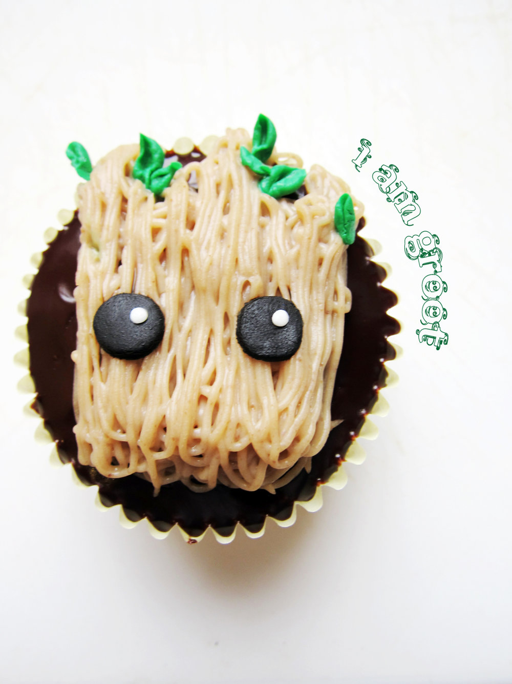 The Busy Spatula  designed these adorable little Groot cupcakes! And they're actually easier to make than they look! Click the photo for the full recipe!