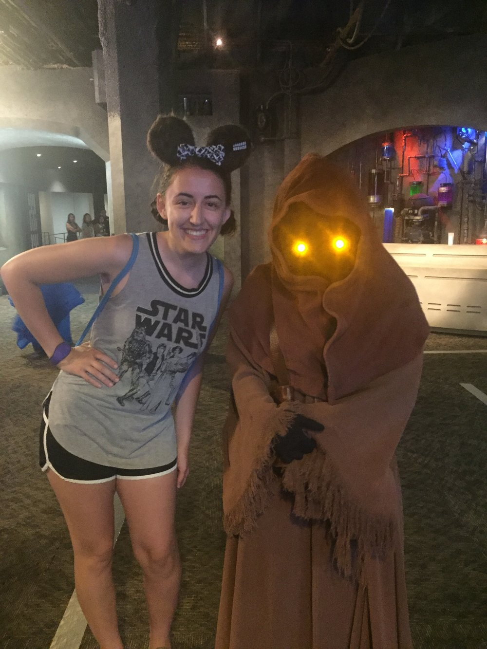 Some of my favorite surprise characters to meet are the jawas that hang out around the Star Wars Launch Bay. Watch your pockets though! They'll steal anything they can sell!