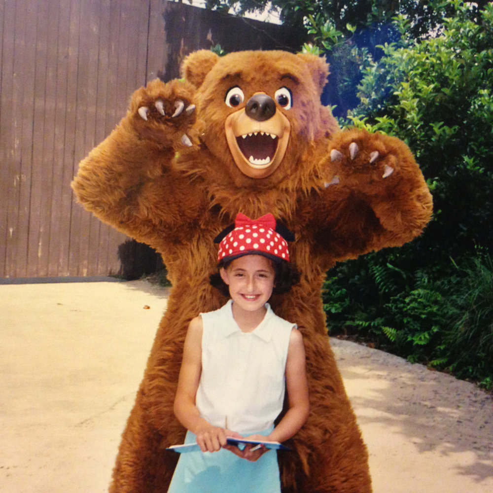 A lot of these chance encounters are with rarer characters, which make for great memories! Here's me and Kenai from Brother Bear back in 2005!