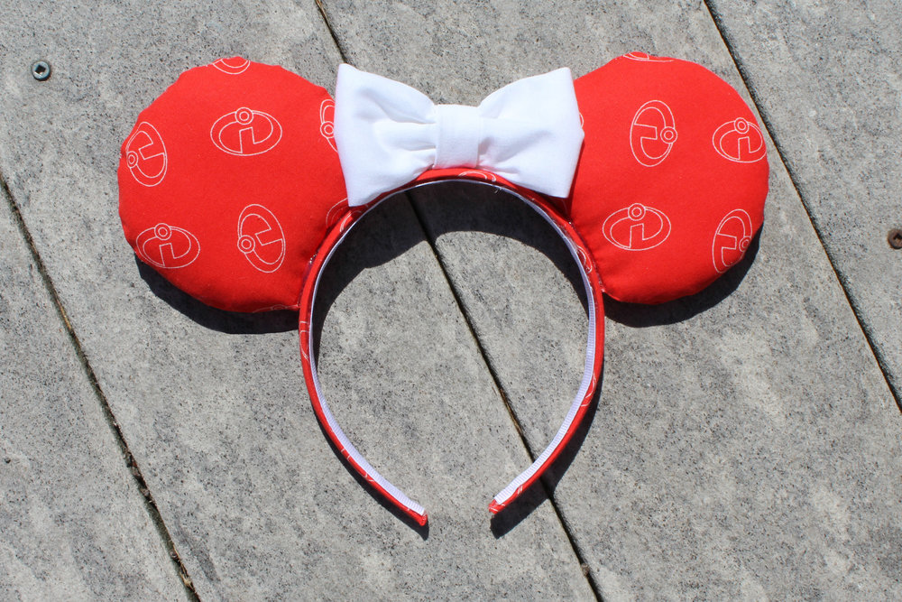 Red Incredible Mickey Ears from Mouse Ears by Monica
