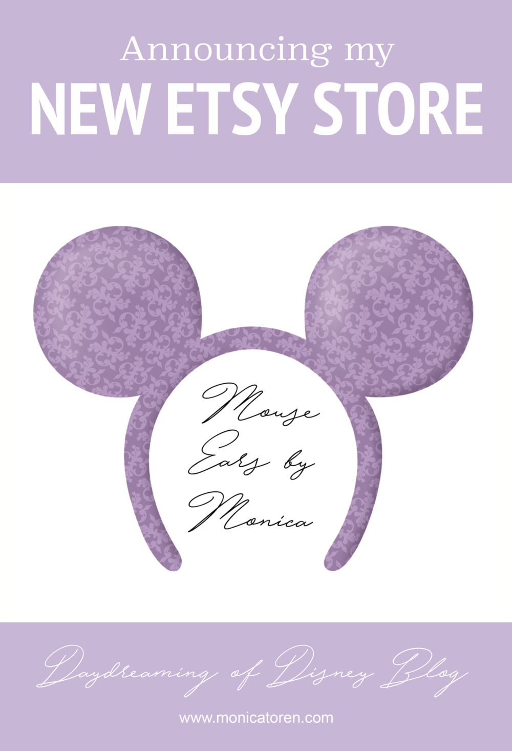 Daydreaming of Disney Blog - Announcing my New Etsy Store - http://www.monicatoren.com #disney #etsy #etsyshop #newetsyshop