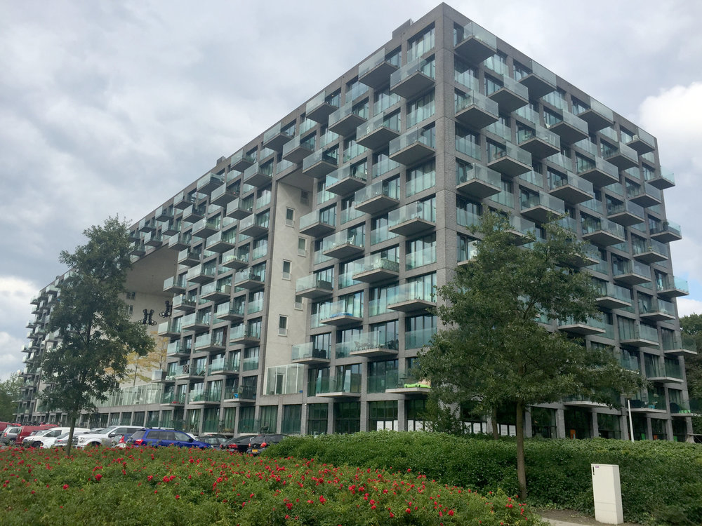 We got to see the Parkrand Apartments by MVRDV.