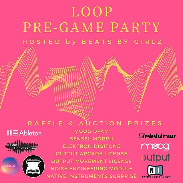 ⭐️Attention Los Angeles⭐️ Join us tomorrow night Nov 8 for Beats By Girlz Pre Loop Party! Along with an awesome linup of performers, we'll be raffling and silent auction @moogsynthesizers DFAM, @WeAreElektron Digitone, @Senselinc Morph, @Output Arcade License, @Output Movement License, @Noiseengineering Module and a @nativeinstruments surprise!!! ✨✨✨Link in bio! See you there! #bbglooppregameparty
