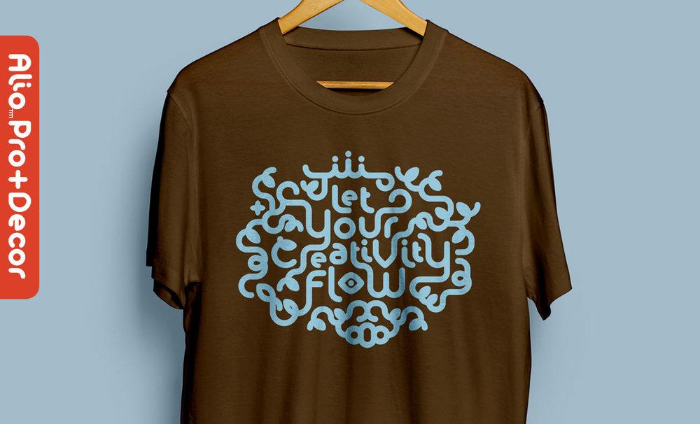 A flourish lettering design created with Alio Pro & Alio Decor.