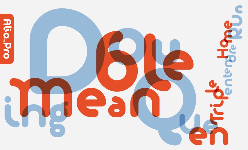 Alio Pro type specimen