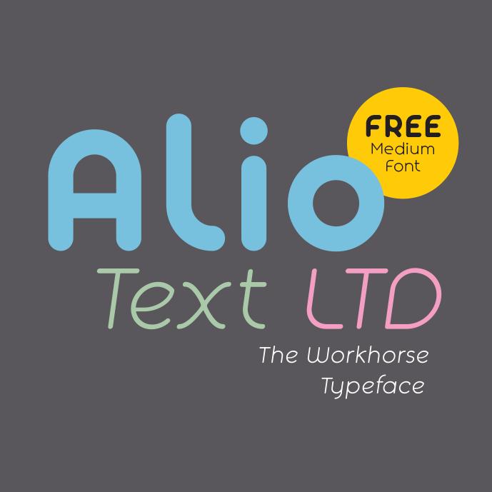 AlioTextLTD_Free_Medium_Font