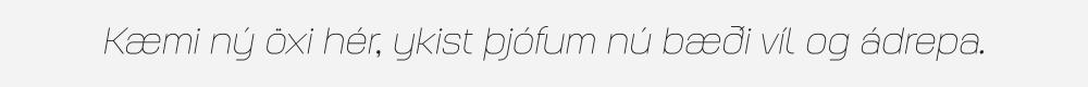 Augmento Extended Thin Italic
