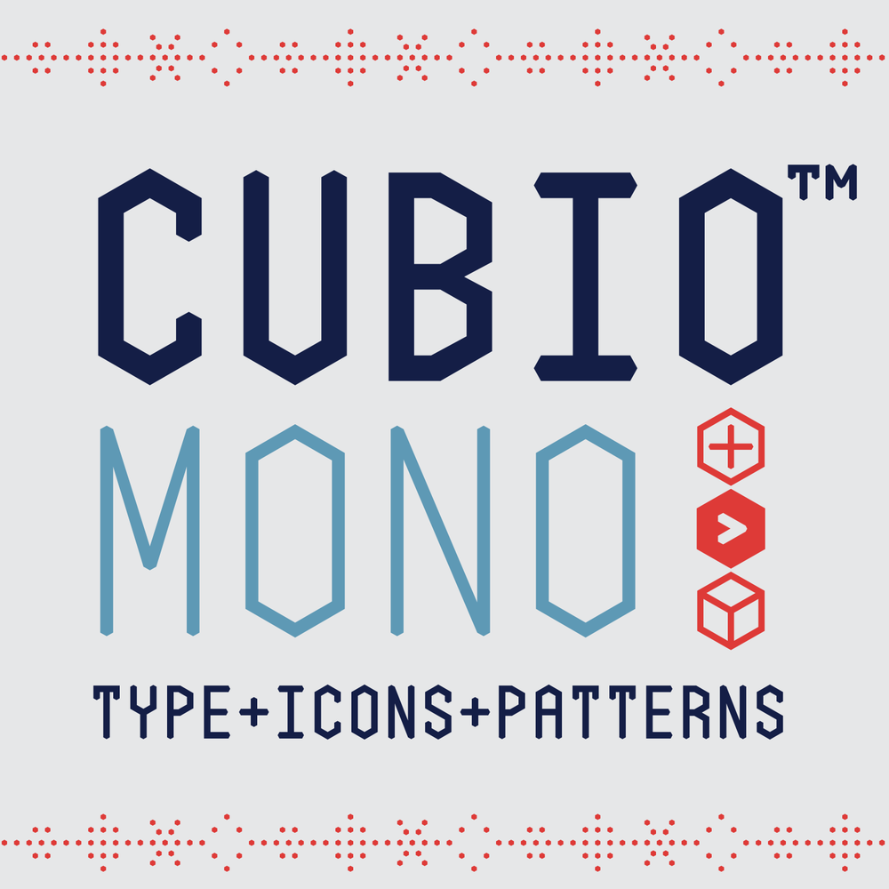 Cubio Mono Font Type Icons Patterns