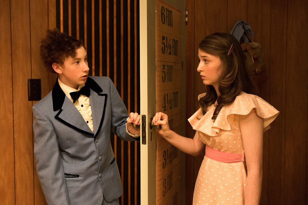 Harrison Feldman and Bethany Whitmore in Girl Asleep. Photo by Shane Reid.