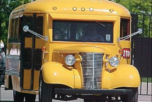 This image of a vintage school bus was the prompt for Contest 2.