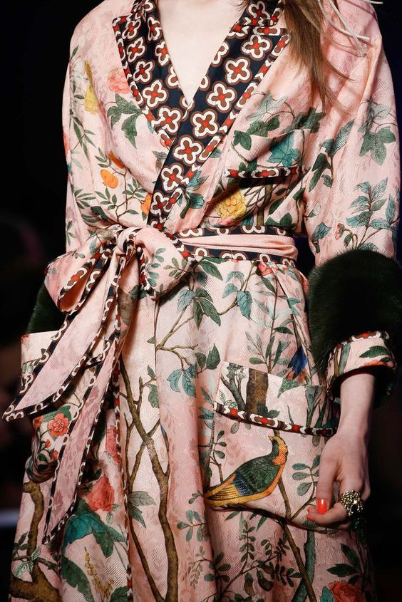 Gucci dressing gown chic from Spring '16