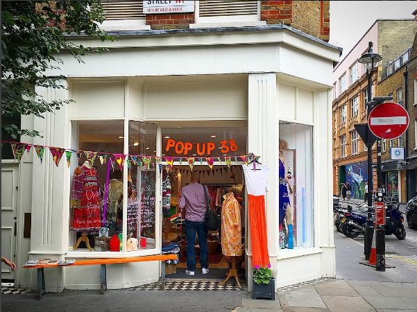 HERE YESTERDAY, GONE TOMORROW, POP UP 38'S SOHO MOMENT