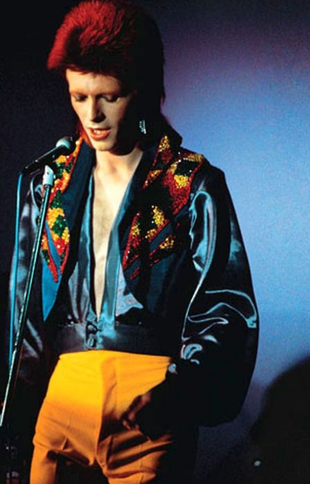 The original satin shirts and flared trousers fan...We miss you Star Man.