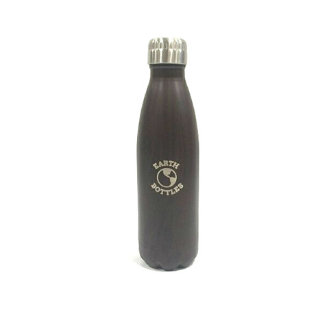 Protect Mother Earth, and look very fashion while you're at it - with this matt black stainless steel water bottle from Earth Bottles