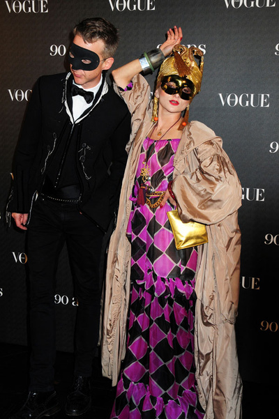 At the 90 years of Vogue Paris masquerade bal in 2010