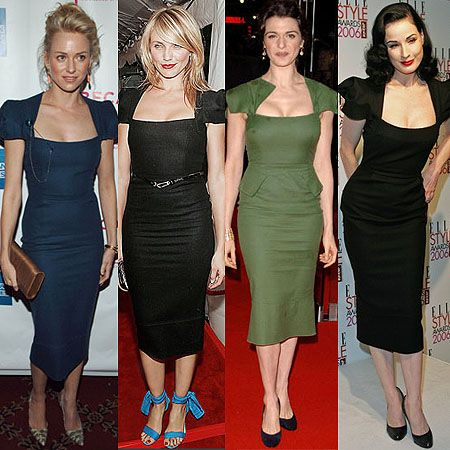 Galaxy fans, from left, Naomi Watts, Cameron Diaz, Rachel Weisz, Dita Von Teese.