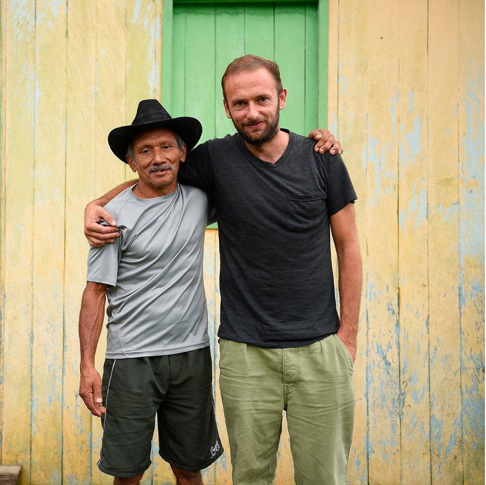 Sebastien Kopp with a rubber producer