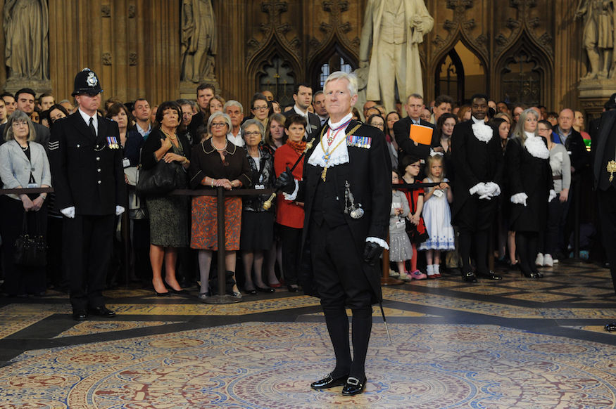 Outgoing Black Rod David Leakey.
