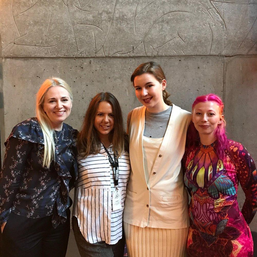 Clare with RMIT students Lisa, Julia and Amanda in Copenhagen