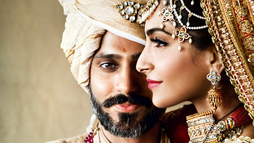 Sonam Kapoor at her 2018 siexwedding to Anand Ahuja