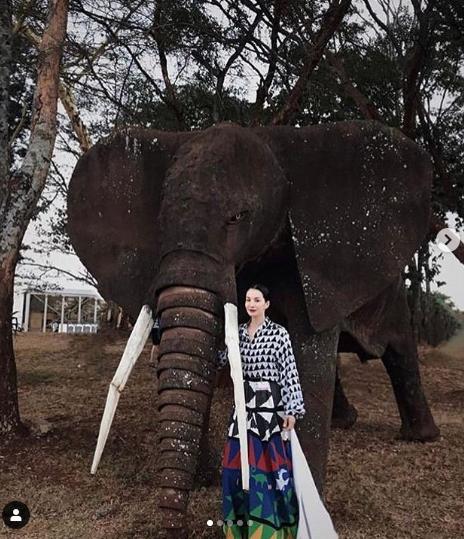 Nadya Hutagalung wear Studio 189. Pic @studiooneeightynine via Instagram