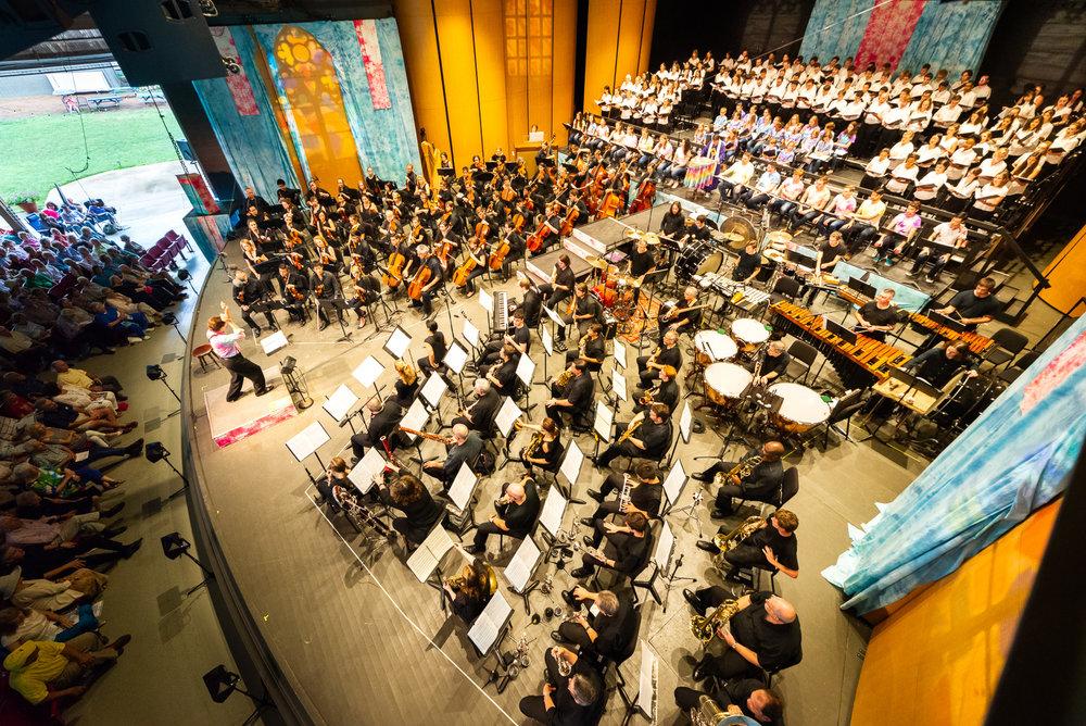 d&b soundscape, brevard music center, bernstein mass