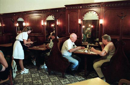 Grandma and Grandpa Dawley enjoying lunch at The Crystal Restaurant
