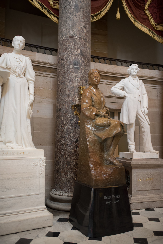 Rosa Parks 1913-2005 Eugene Daub, sculptor Dr. Rob Firmin, co-designer