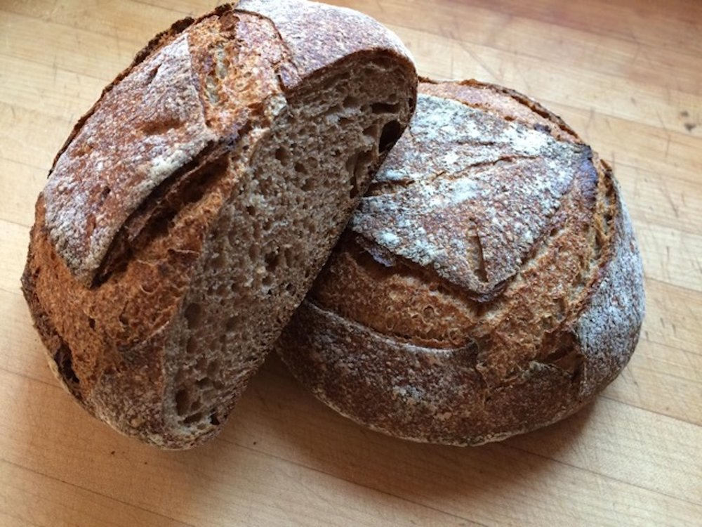 """""""This is a sourdough I made with 100% Turkey Red. It's a pleasure to work with (good balance of strength and extensibility), and has great flavor."""""""