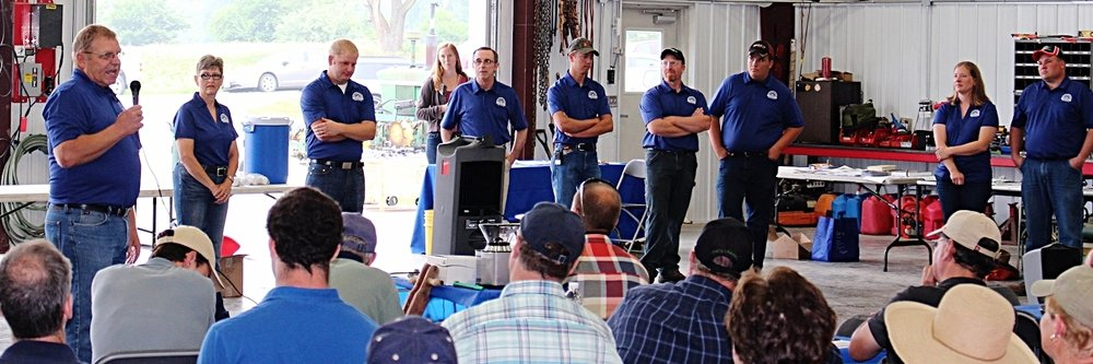 The Janie's Farm Team!  Harold Wilken, Sandy Wilken, Ross Wilken, Gerry Lunt, Colton Henrichs, Ryan Wolfe, Lucas Haut, Leslie Vaske, Tim Vaske