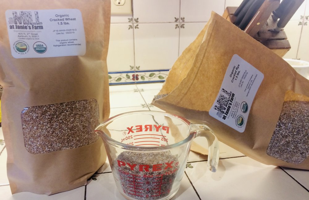 Did you know that you can make delicious, wholesome, and satisfying breakfast cereals with cracked rye or cracked wheat from Janie's Mill? Well, you can! And once you taste our flavorful grains, you won't ever go back to industrial oatmeal or cream of wheat or (heaven forbid!) sugary boxed breakfast cereals!