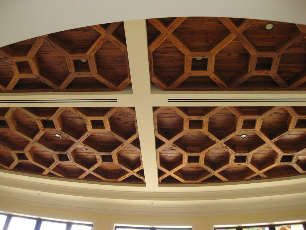 Pecky Cypress Ceiling