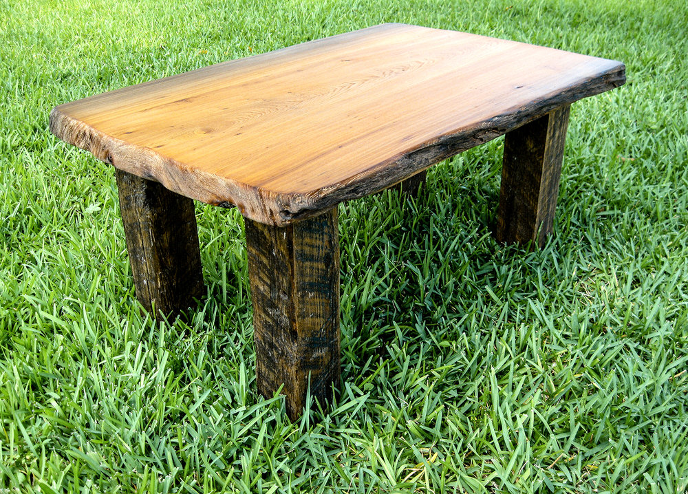 Old Growth Live Edge Cypress Coffee Table