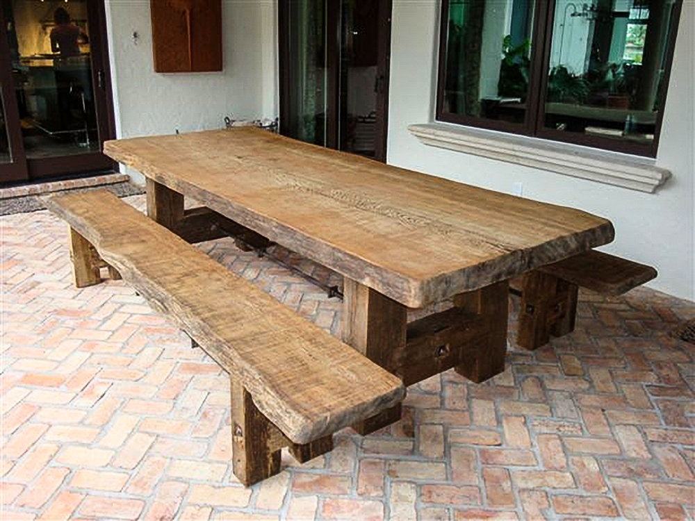 Old Growth Cypress Live Edge Picnic Table