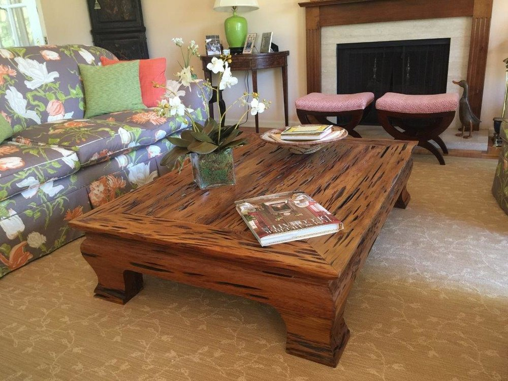 Old Growth Pecky Cypress Coffee Table