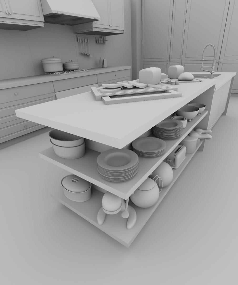 Create A Realistic Kitchen