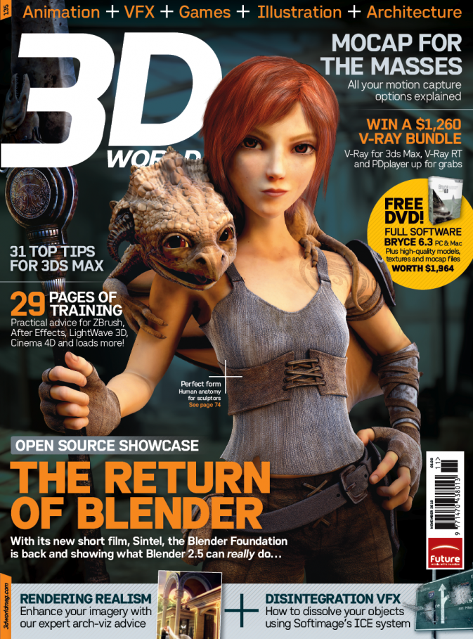 He also made the cover for 3D World Mag