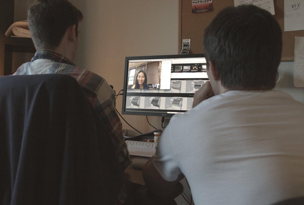 Skype calls with the Set Designer in LA