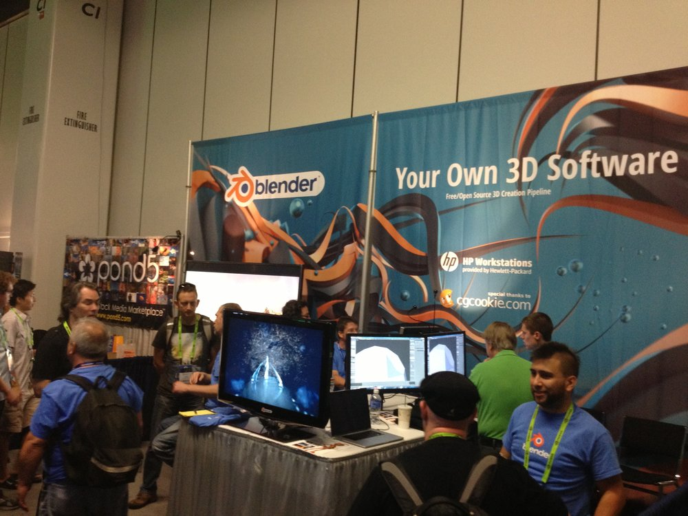 Blender Booth at Siggraph 2013